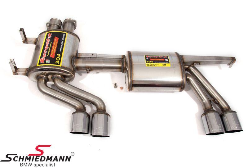 Sportendschalldämpfer Lightweight Racing Edelstahl Supersprint Endrohre 2X80MM rund