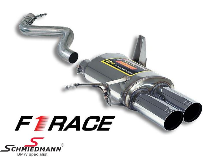 Sportendschalldämpfer Supersprint -F1 Race Lightweight- 2X80MM Endrohr rund rechts