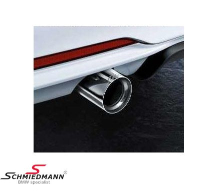 Tailpipe cover chrome original BMW -///M-Performance- for original -M///-Performance- sport silencer