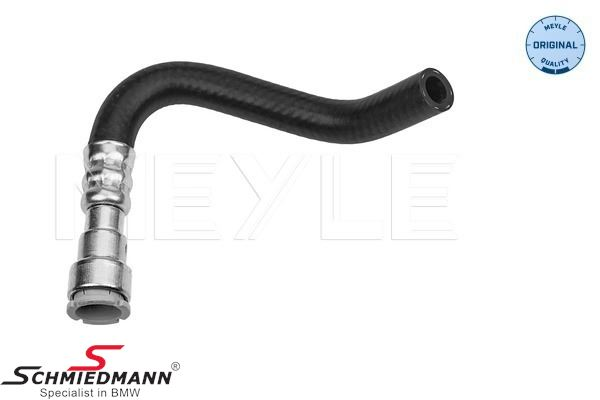 Oil hose from the cooling pipe to power steering oil carrier (return line) - Meyle original quality