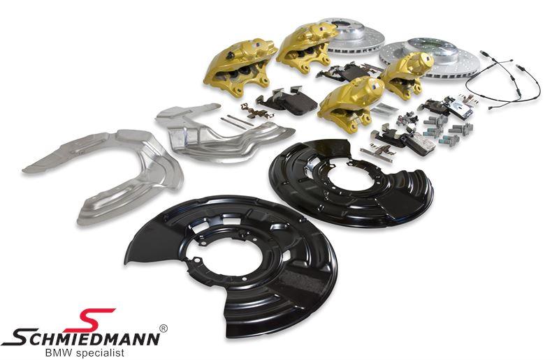 BMW Performance Bremsanlage vorne+hinten mit gelben Bremssätteln, VA 370X30mm