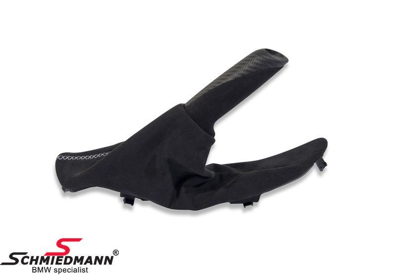 Handbrems-Griff komplett mit Abdeckung schwarz Alcantara/Carbon, Original BMW -///M-Performance-