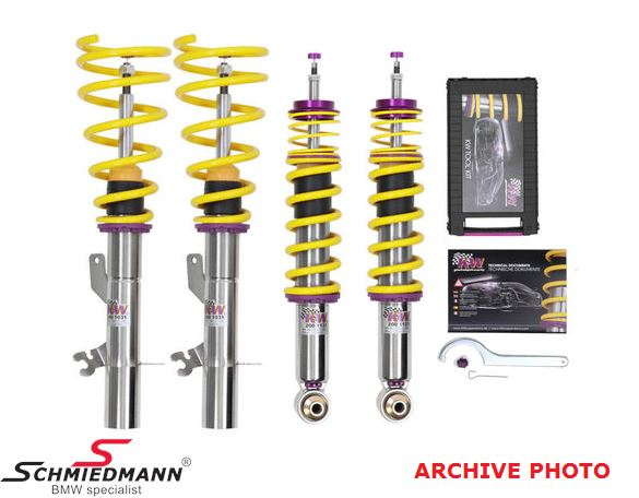 Coilover kit -KW variant 3 Inox- height, rebound and compression damping adjustable front 40-65mm + rear 30-55MM