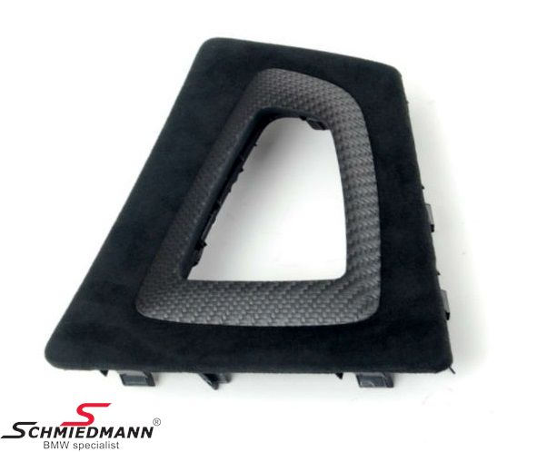 Alcantara/carbon cover for the gearshifter -/// M-Performance-