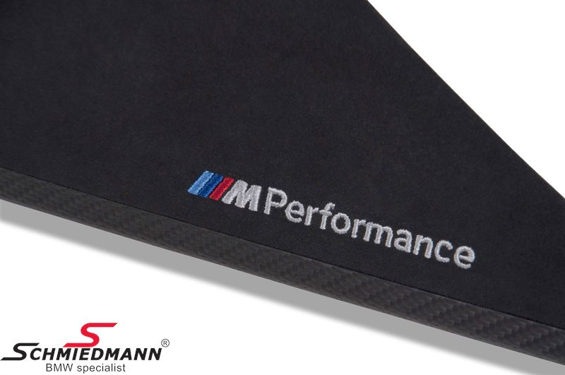 Interior moulding set carbon/alcantara -///M-Performance- 7 pcs for doors/center console and dashboard
