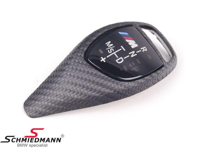 Carbon-Abdeckung für den Wählhebel -/// M-Performance-