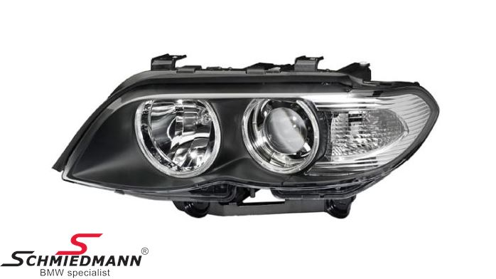 Headlight D1S/H7 L.-side complete bi-xenon/ without adaptive light, with white direction indicator lights - original Hella Germany
