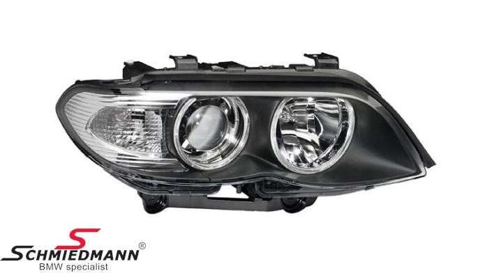 Headlight D1S/H7 R.-side complete bi-xenon/ without adaptive light, with white direction indicator lights - original Hella Germany