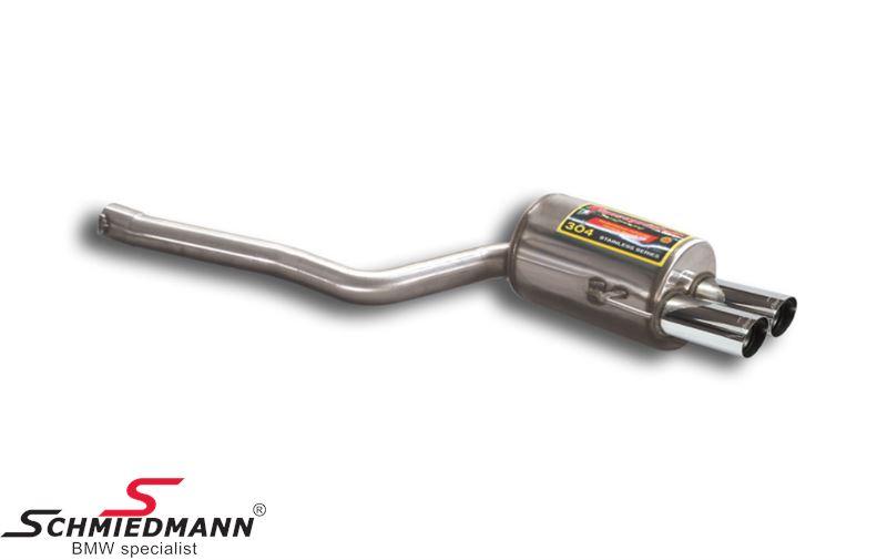 Sportendschalldämpfer Edelstahl Supersprint rechts Endrohr 2X76MM Race Tips
