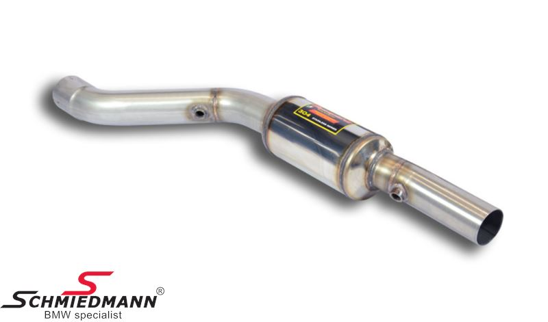 Supersprint front pipe with silencer L.-side -Lightweight Racing- from the downpipe - to the intermediate pipe (Will increase the racing sound)
