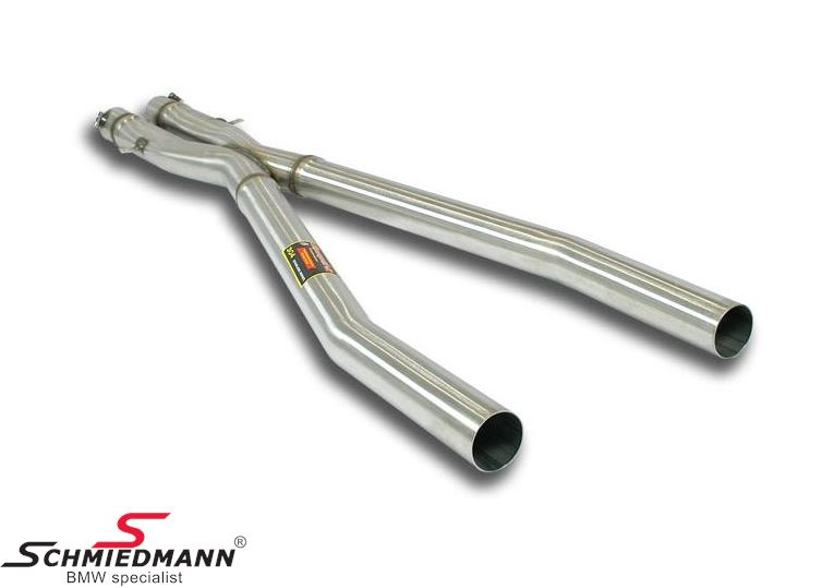 X-Pipe middle-silencer replacement Supersprint -Lightweight Racing- from the catalyst - to the rear exhaust (Will increase the racing sound)