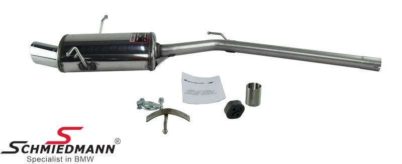 Sport rear silencer Supersprint tailpipes 90MM round