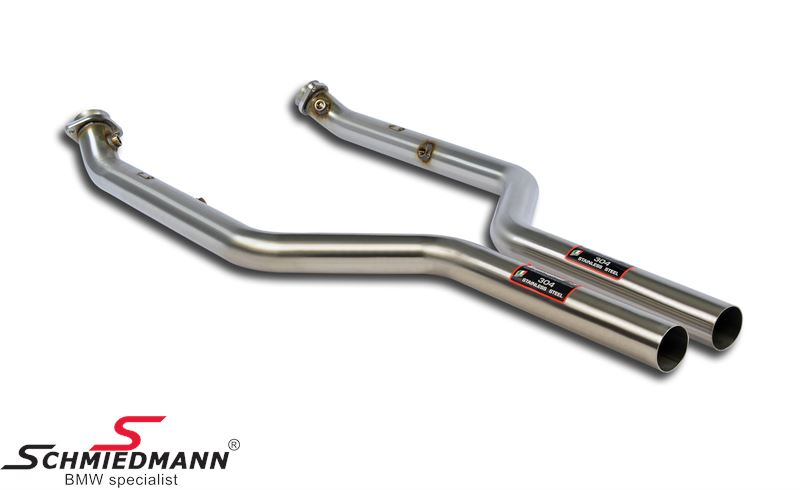 Supersprint front catalyst replacement (downpipe), for race use only (please note, the kit will turn the yellow engine lamp on which wont have any influence on performance, to turn it of reprogramming is needed)