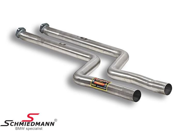 Supersprint front pipes, catalyst replacement, for race use only