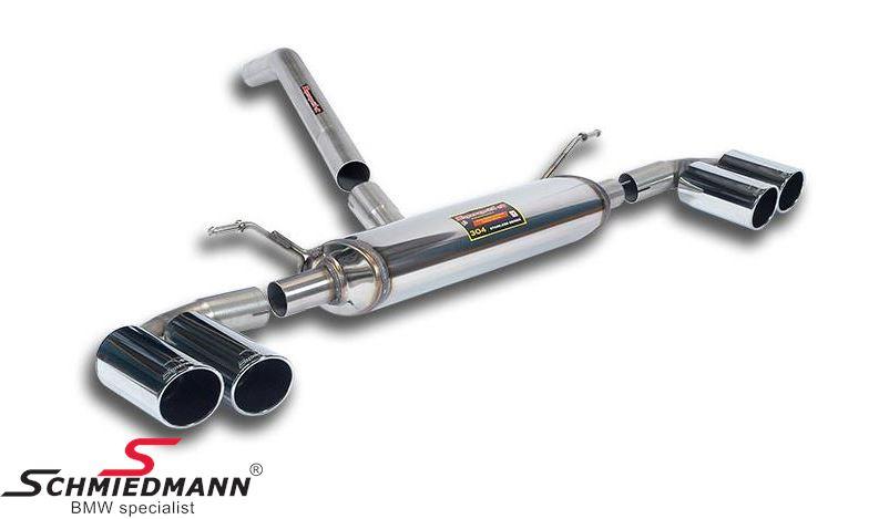 4 Rohranlage links+rechts Supersprint, Endrohre 4X80MM rund