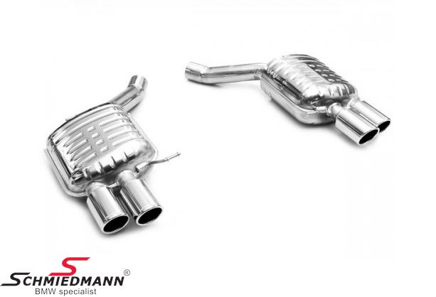 Sports rear silencer set Eisenmann tailpipes round 4XD90MM Race sound