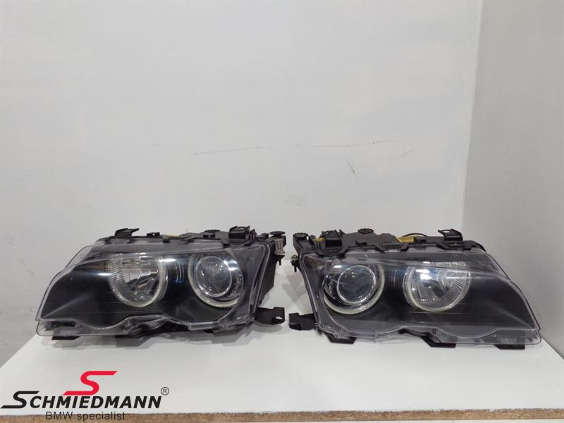 Xenon headlights with angeleyes