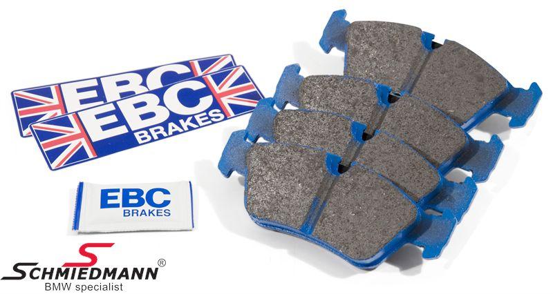 Sportsbremsbeläge vorne EBC blue stuff NDX (für die Rennstrecke)