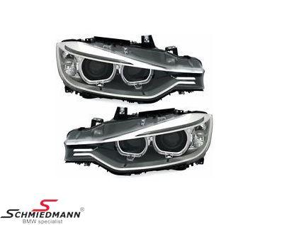 DEPO OE Xenon Look Scheinwerfer mit Angel Eyes , H7/H7 inklusive Motor für die Leuchtweitenregulierung