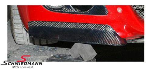 BMW E46 Frontspoiler Lippen Satz echt Carbon für M3 Frontspoiler