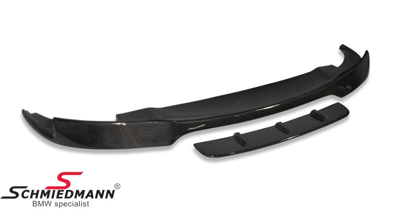 Frontspoiler lip -EVO- for M5 frontspoiler genuine carbon coating