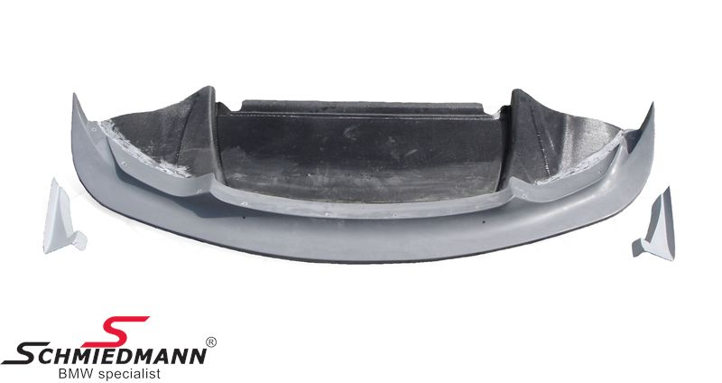 Frontspoiler lip genuine carbon -GT4-, inclusive frontspoiler side-splitter diffussor set, original Flossmann Germany