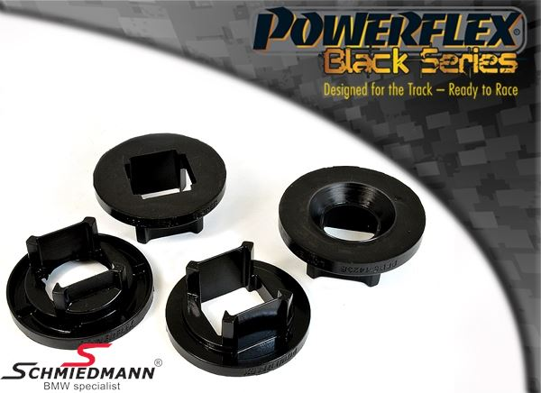 Powerflex Racing -Black Series- äussere vorne Hinterachs Gummilagereinsatz-Satz (Nur Einsätze) (Position 21 auf diagram)