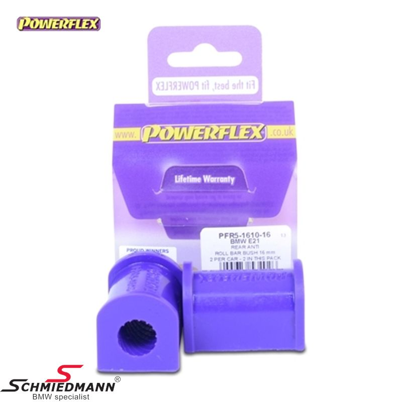Powerflex racing Stabilisator Gummilager-satz hinten 23,5MM