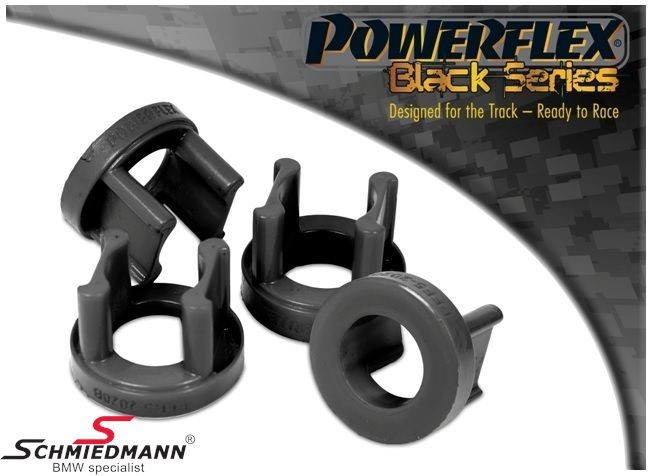 Powerflex Racing -Black Series- äussere hintere Hinterachs Gummilagereinsatz-Satz (für Race und Track Day´s) (Nur Einsätze günstigere Alternative zu PFR5-2021 + schnnelleren Einbau) (Position 20 auf diagram)