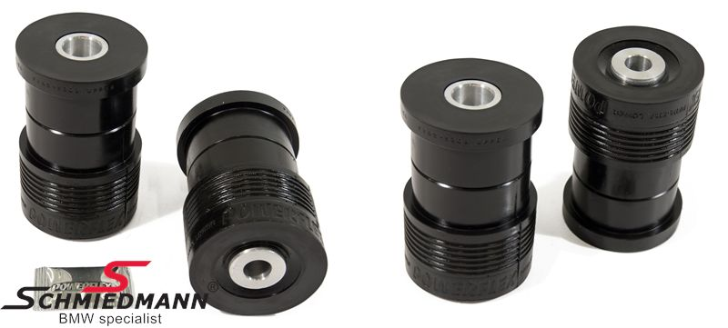 Powerflex racing -Black Series- rear beam outer rear bush, front+rear set 4pcs,