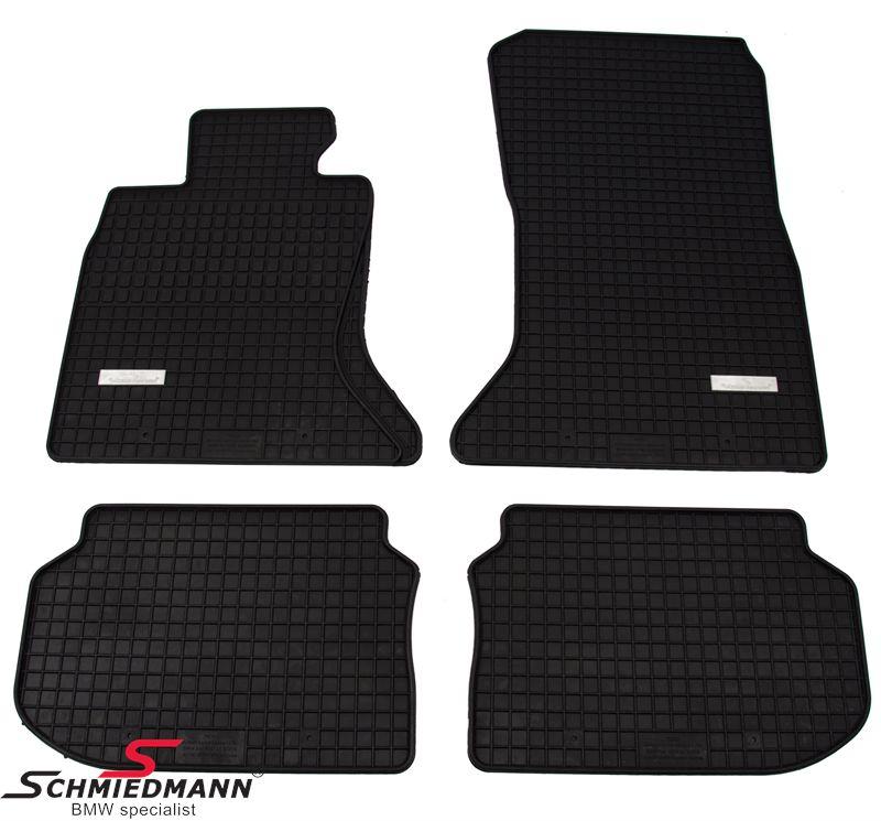 BMW E82 E88 E87 Schmiedmann -Exklusiv- Gummifussmatten vorne/hinten schwarz