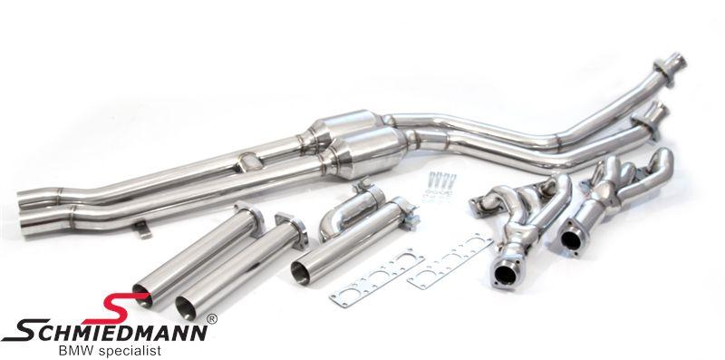 BMW E36 Schmiedmann High Flow Fächerkrümmer M50/M52 mit Sportkatalysatoren 400 Zellen