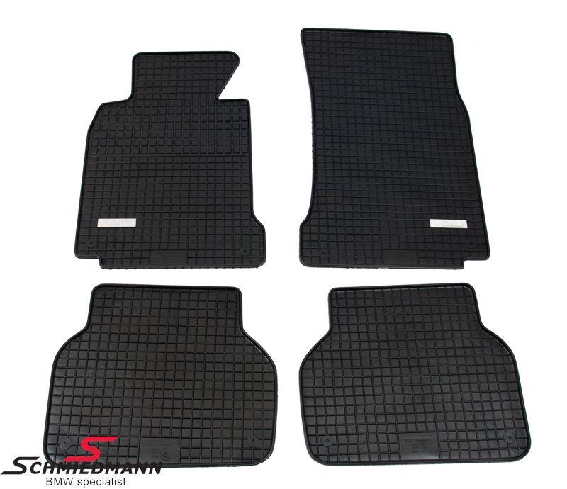 BMW E39 Schmiedmann -Exklusiv- Gummifussmatten vorne/hinten schwarz