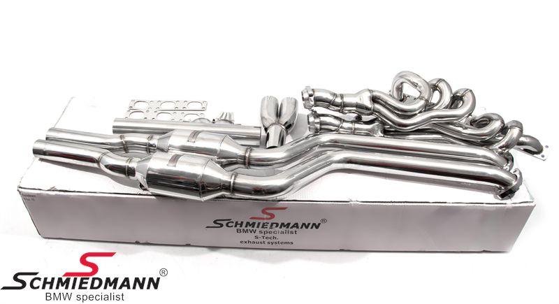 BMW E46 Schmiedmann High Flow Fächerkrümmer M52/M54 inkl. 400 Zeller Euro3D4 Metallsportkatalysatoren