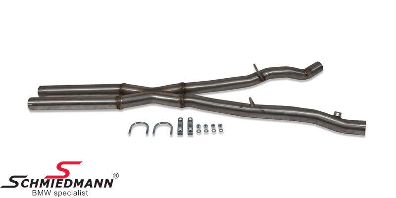 Schmiedmann Mittelschalldämpfer-Ersatz / X-Rohr
