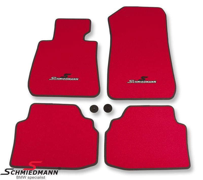 Fussmattensatz vorne/hinten original Schmiedmann -Sport EVO Rot- rot