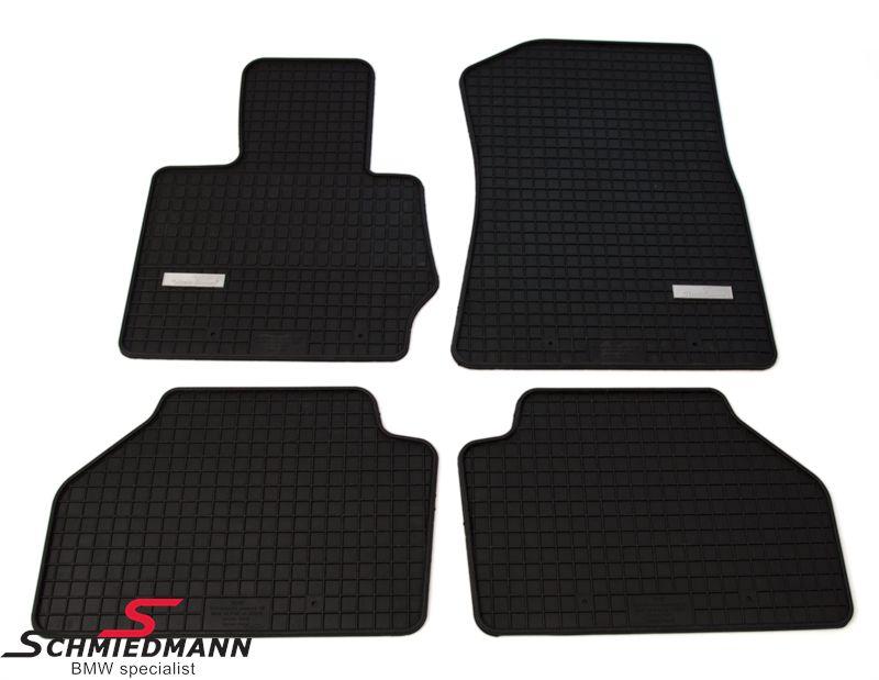 Schmiedmann -Exklusiv- Gummifussmatten vorne/hinten schwarz