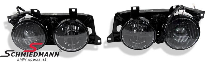 Hauptscheinwerfer-Satz DE schwarz H1 -Black Classic-