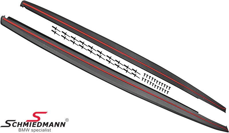 Seitenschweller Erweiterungsset Mat schwarz -EVO-X-