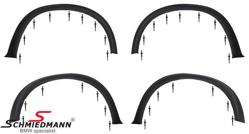 Fender extension set front+rear