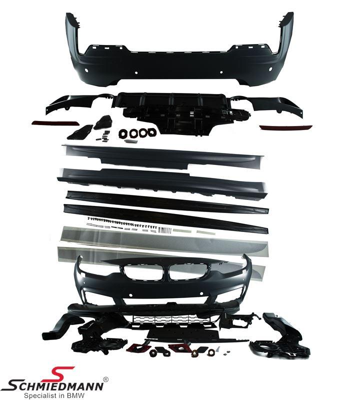 Spoiler Kit -Motorsport II- Frontstoßstange + Seitenschweller + Heckstoßstange (die Nebelscheinwerfer passen von der originalen Stoßstange).