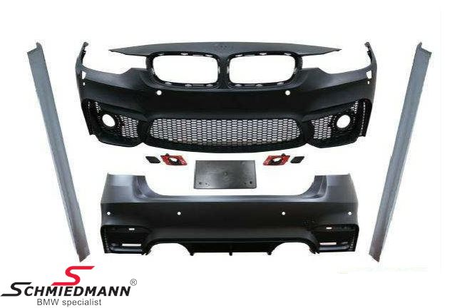 Spoiler kit -Motorsport 3- frontspoiler inclusive sideskirts+rearskirt (if you have M-Tech. foglights you can use them again, íf not you need to buy part nr. 1217388).