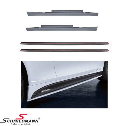 M-Technic sideskirt set inclusiv extention set original BMW ///M Performance including glue and M-Performance stickers for both sides