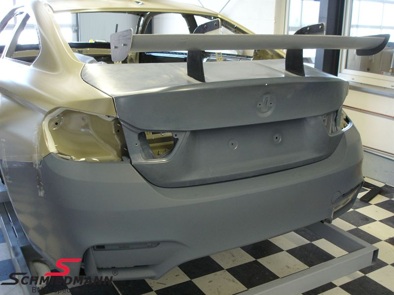 Trunk lid -GTR- carbon fibre with reinforcement for GT3 trunk lid wing (is not included), original Flossmann Germany
